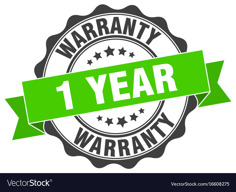 1 year warranty stamp sign seal vector image