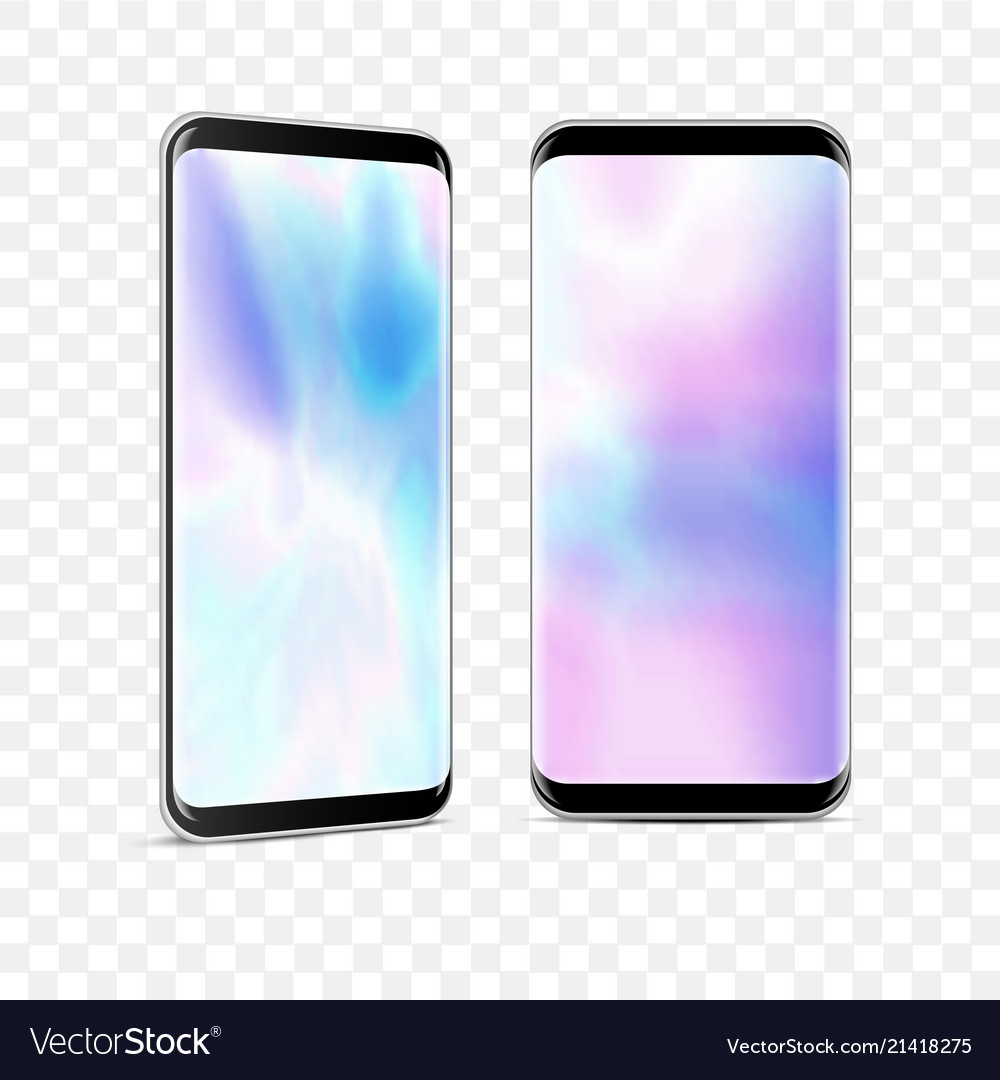 Realistic high detailed smartphones