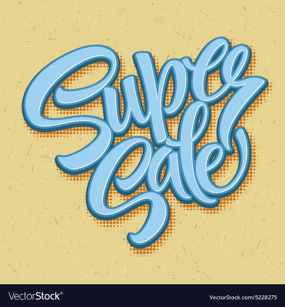 Super sale tag banner