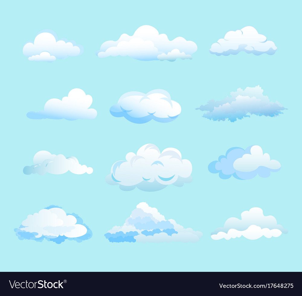 White clouds on light blue