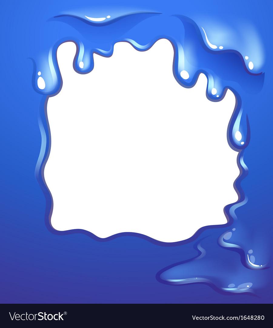 a blue border design royalty free vector image