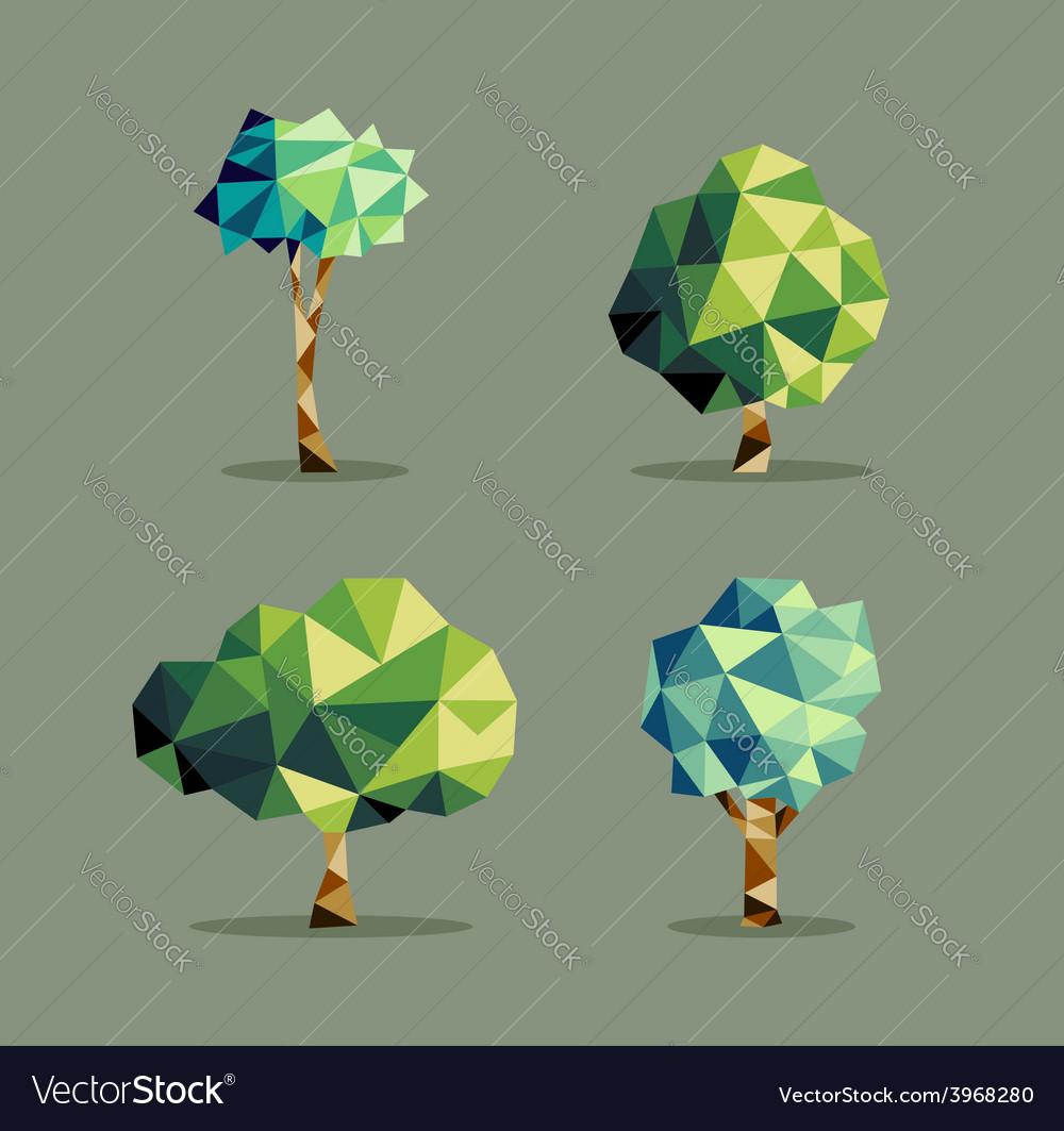 Abstract triangle Tree set