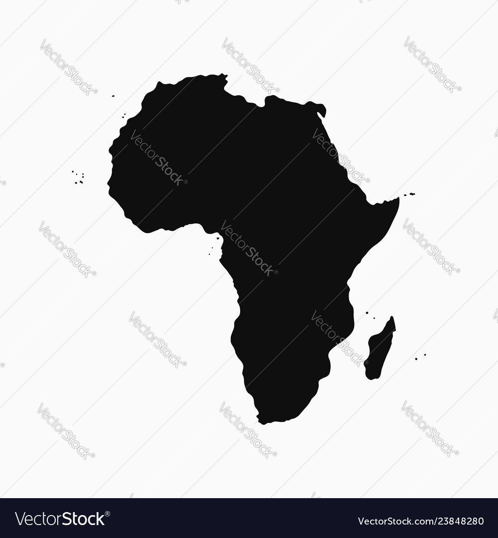Africa continent - map