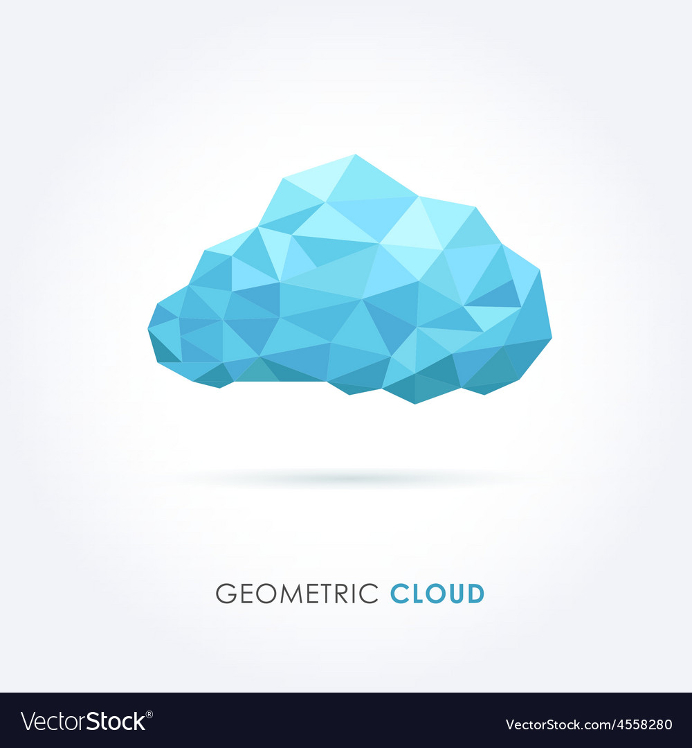 Cloud geometrical style vector image
