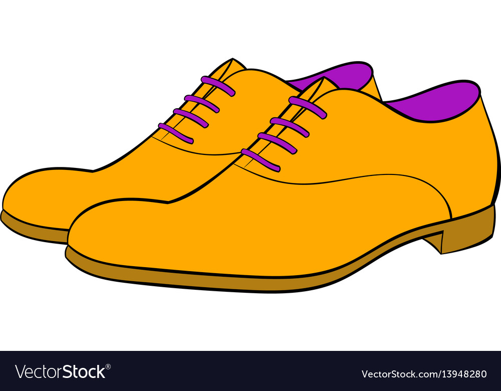 Men shoes icon cartoon
