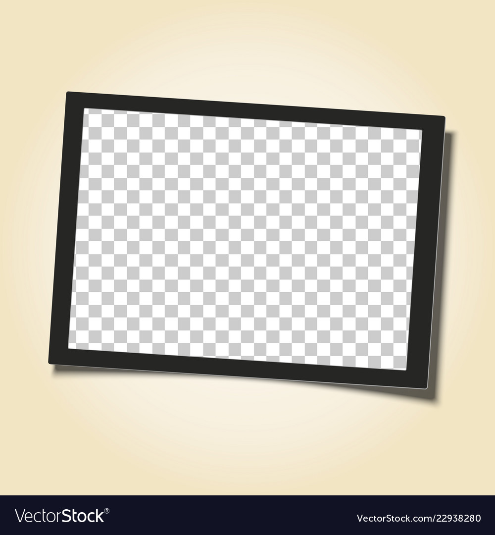 Retro frame with black border and transparent