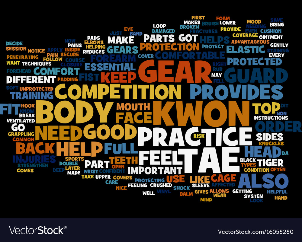 The most common tae kwon do gear text background
