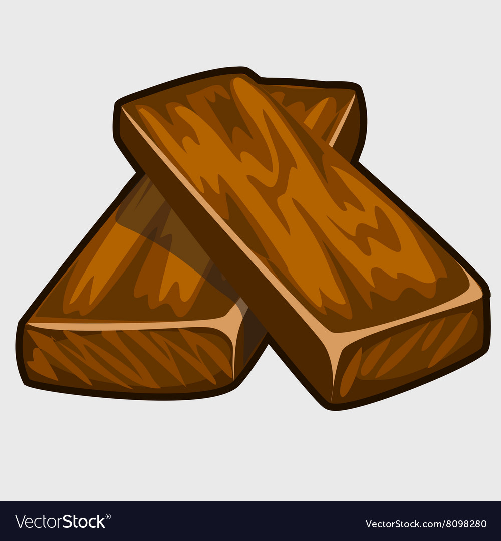 Two brown wooden doard closeup isolated