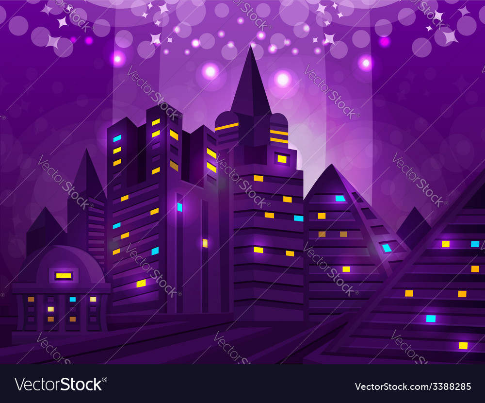 Background city vector image