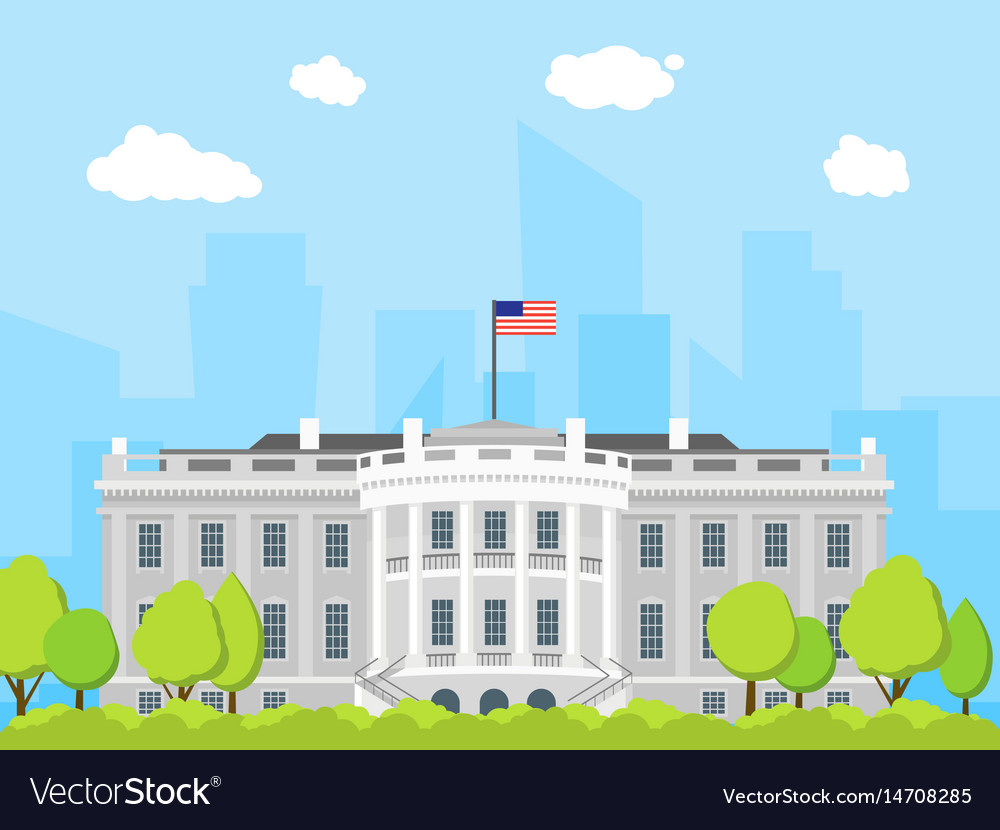 cartoon white house building royalty free vector image rh vectorstock com white house victory garden white house victory garden 2017