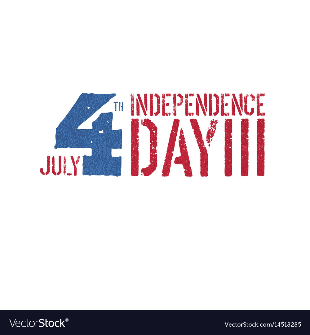 Independence day 4th july logotype patriotic