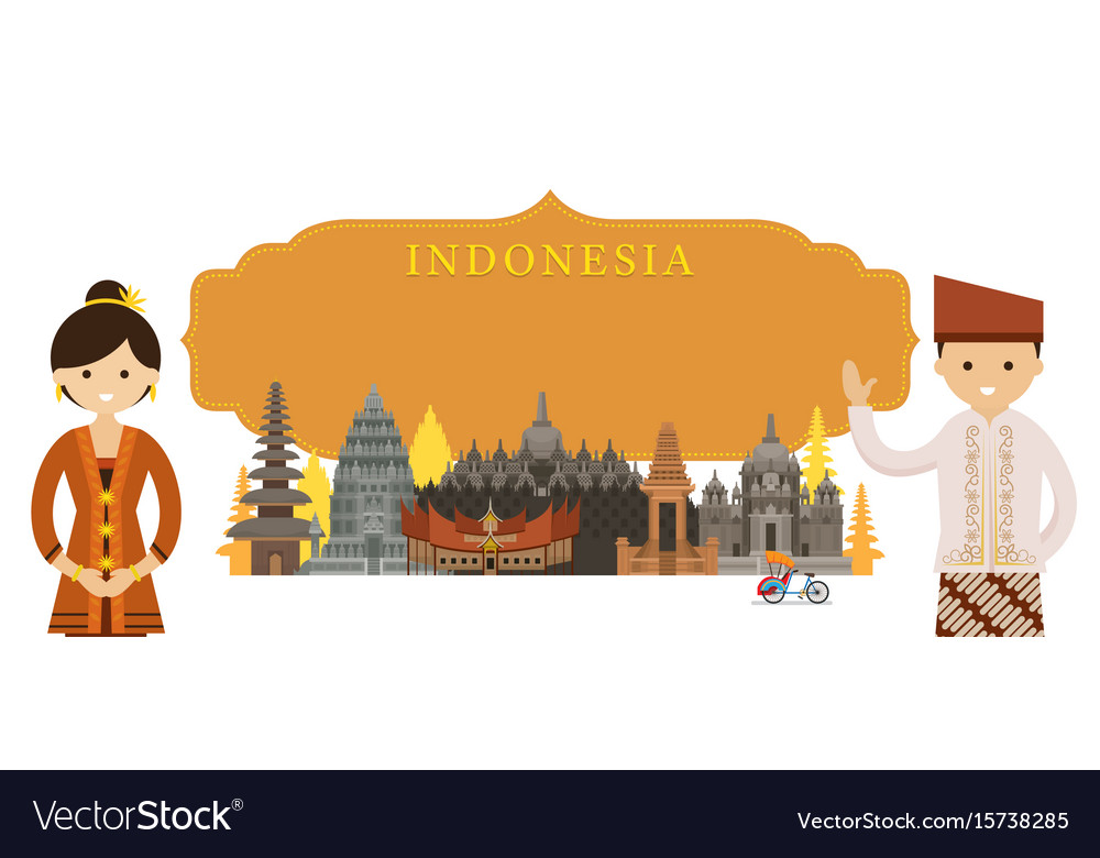 Traditional Indonesia u0026 Clothing Vector Images