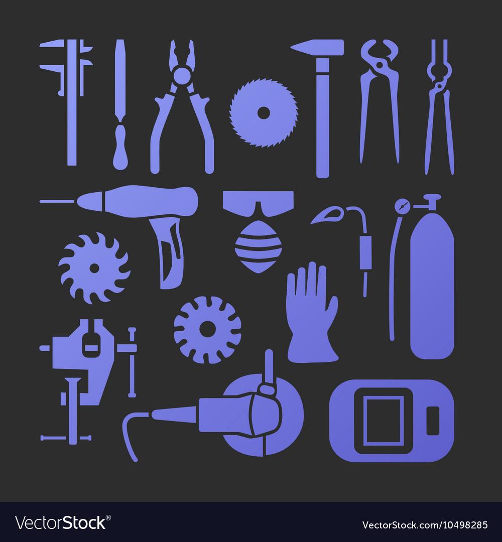 Metaworking icons set