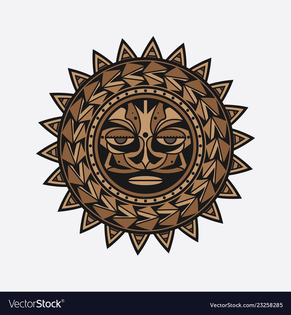 Polynesian tattoo design face