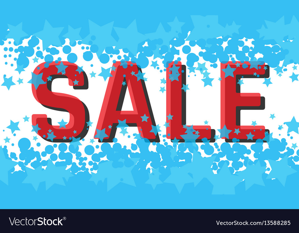 Winter sale poster with sale text advertising