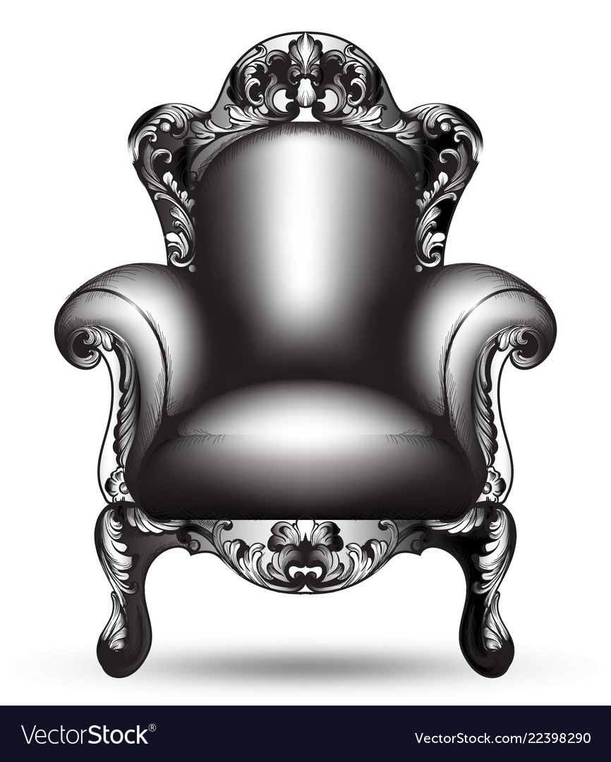 Baroque black armchair french luxury rich