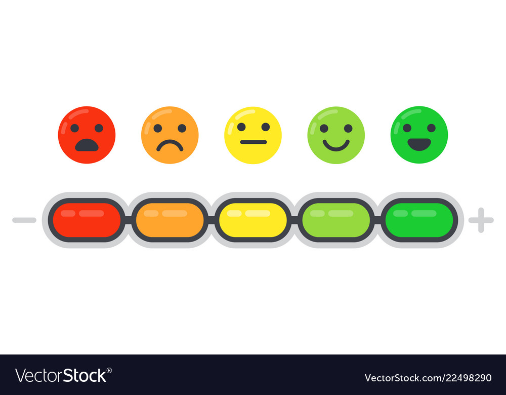 Emotional scale mood indicator customer