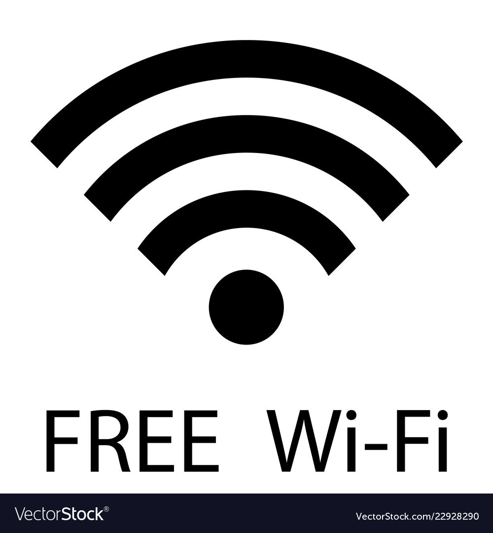 Free wifi sign free wi-fi zone