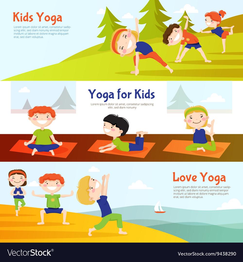 Kis Yoga Horizontal Banners Set