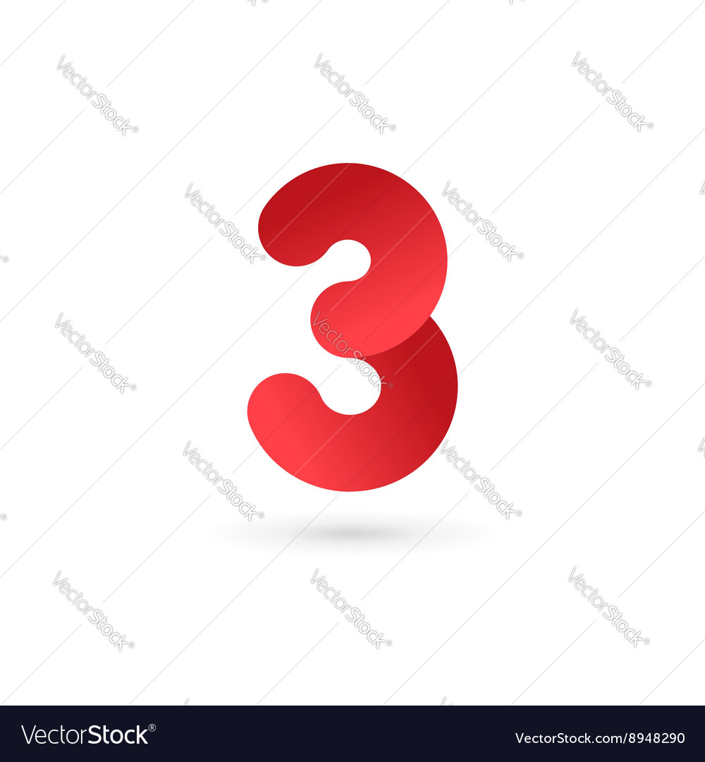 Number 3 logo icon design template elements Vector Image