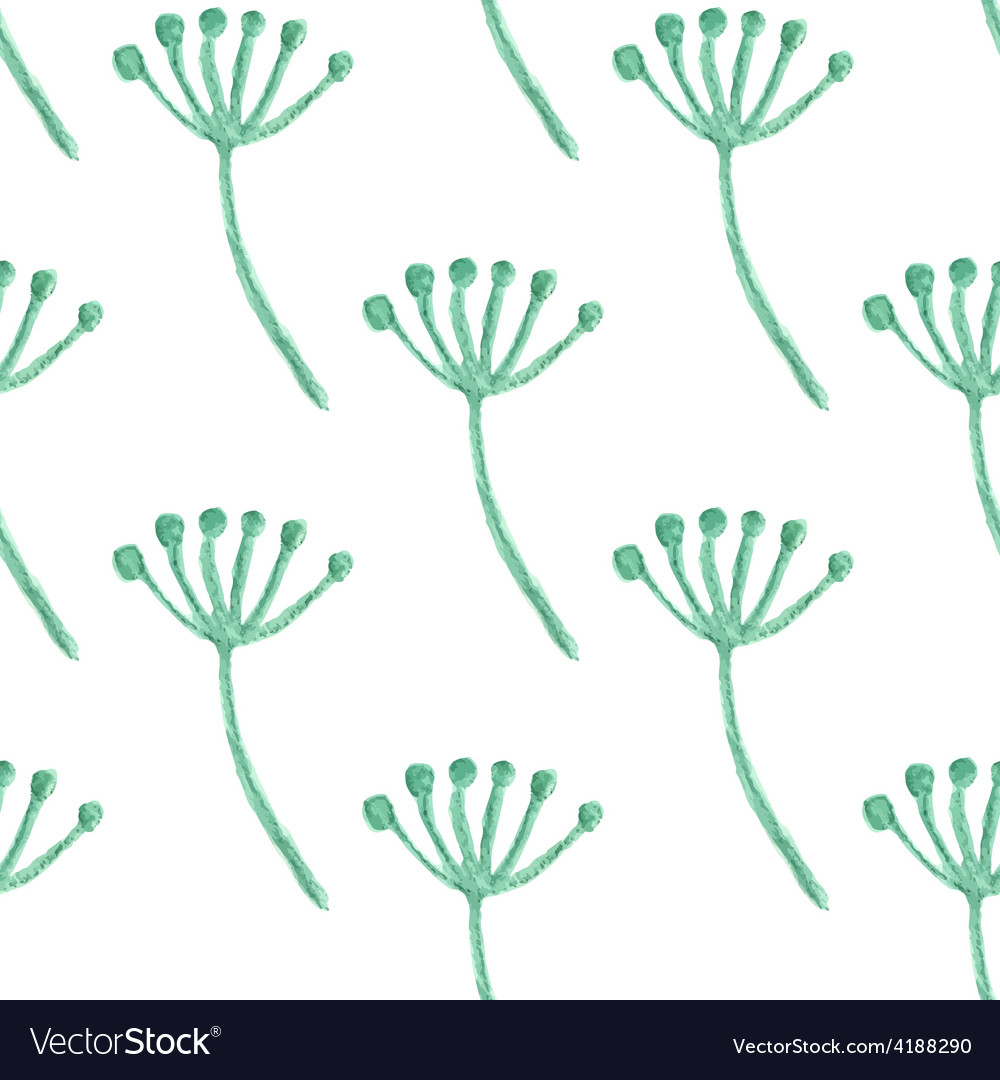 Watercolor painted floral seamless pattern