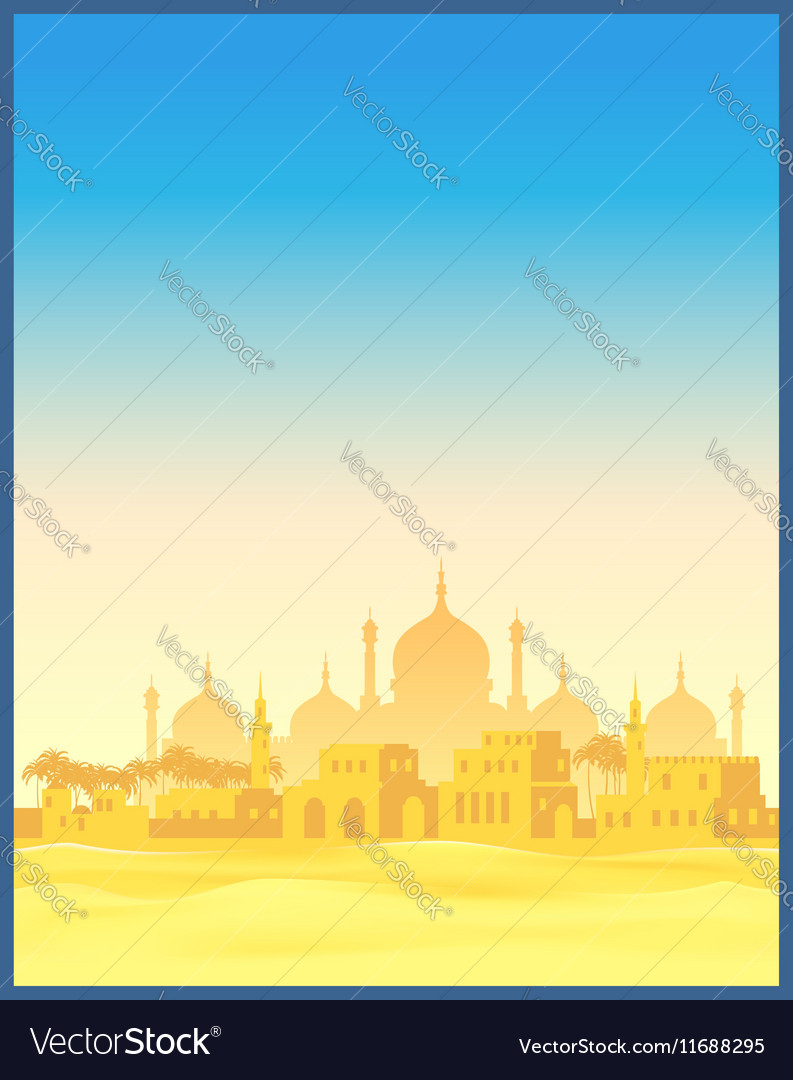 Ancient Arab town vector image