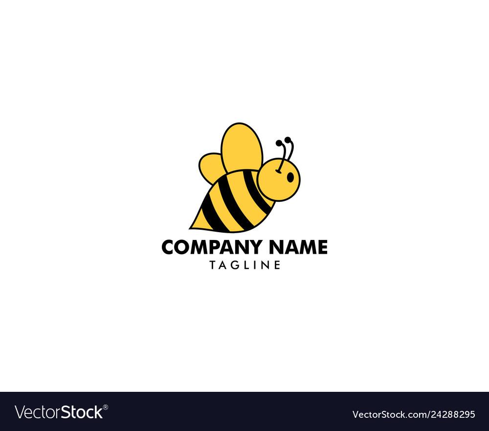 Bee logo icon template