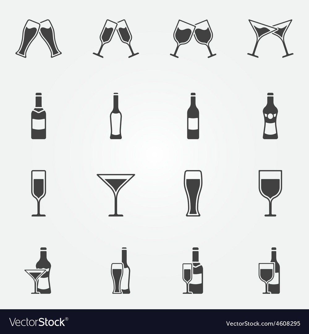 Drink alcohol icons