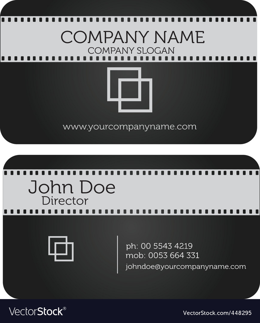 Film business card royalty free vector image vectorstock film business card vector image reheart Images