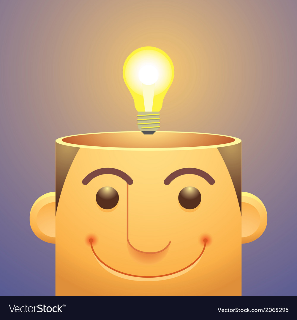 Good Ideaslight Bulb Over Head Royalty