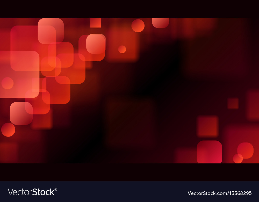 Red abstract background of blurry squares vector image