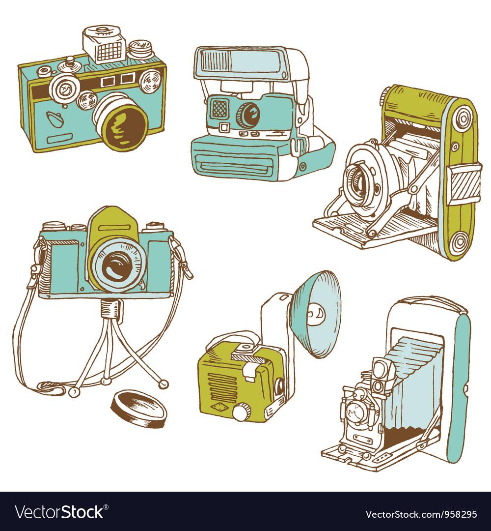 Set of Photo Cameras