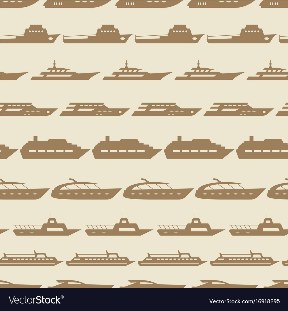 Ships and boats vintage seamless pattern