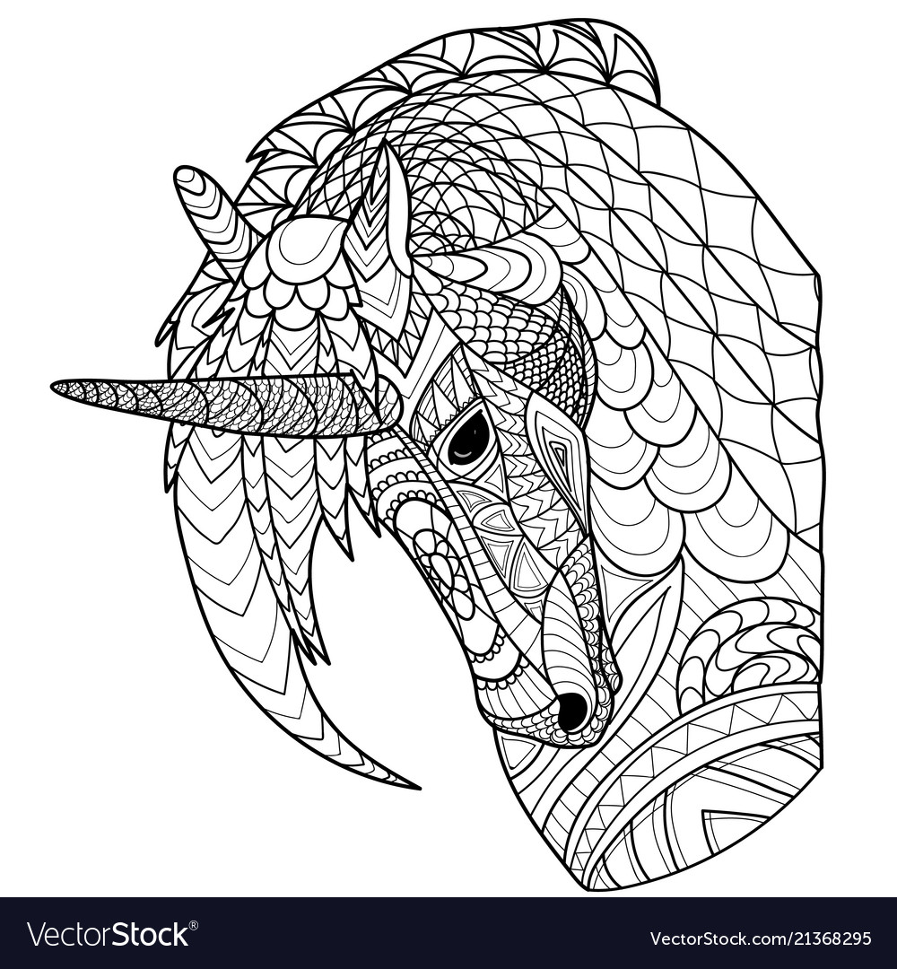 Unicorn line coloring page coloring book