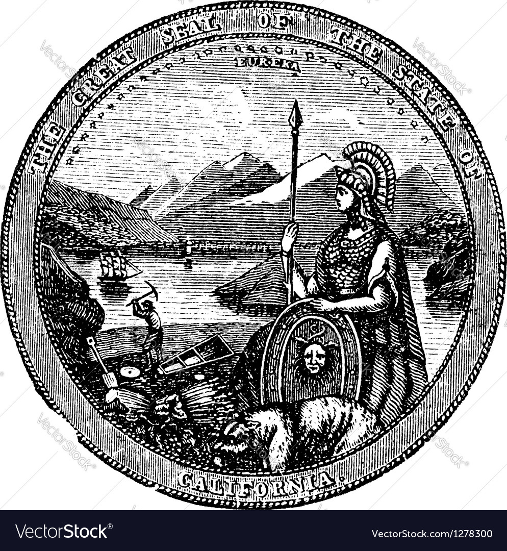 California Seal vintage engraving vector image