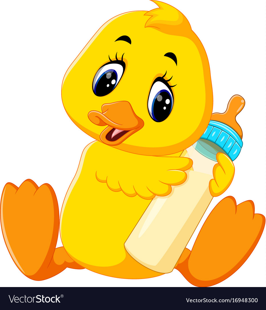cute baby duck cartoon royalty free vector image rh vectorstock com cartoon baby duck images cartoon baby duck pictures
