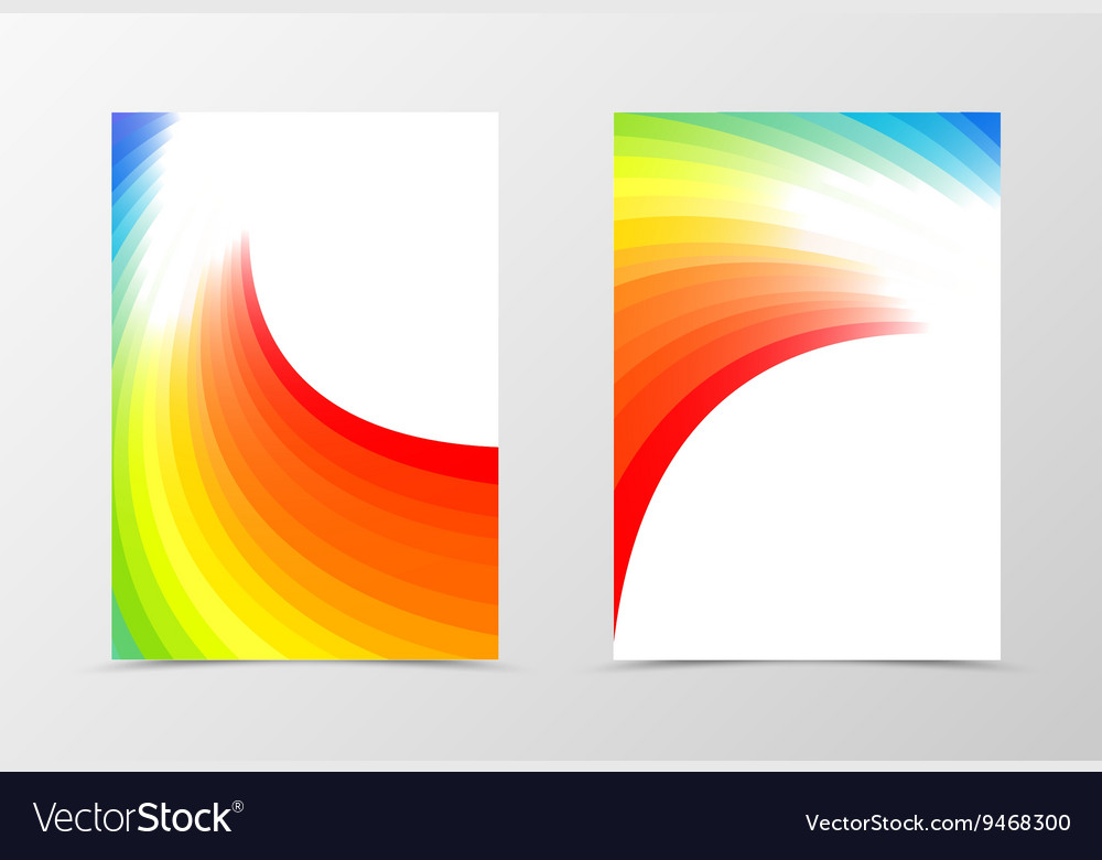Rainbow flyer template design vector image