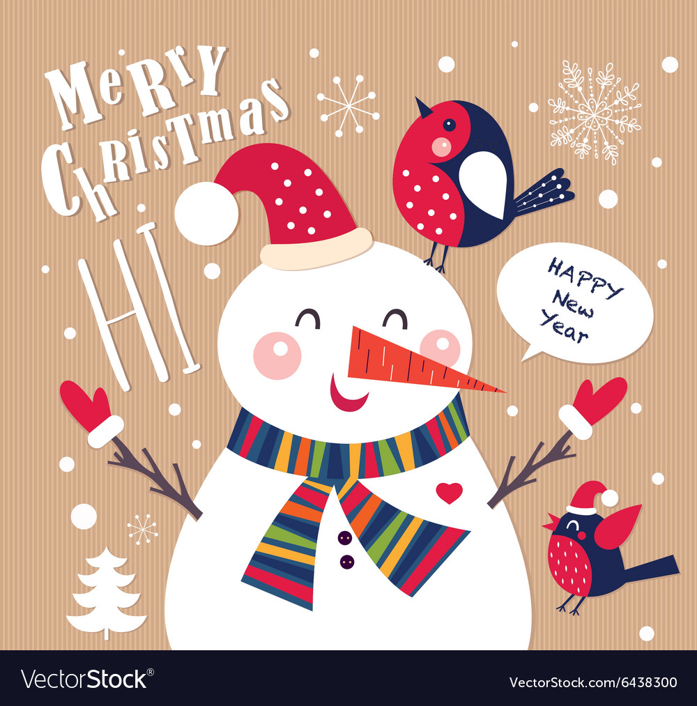 Snowman christmas design