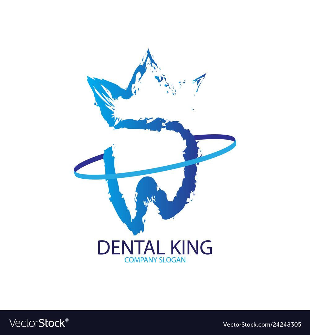 Abstract dental king logo