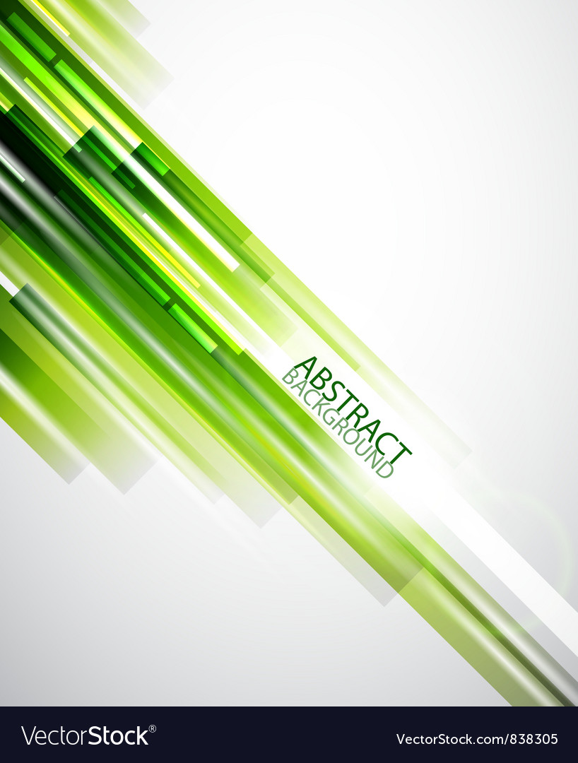 Abstract green lines background vector image