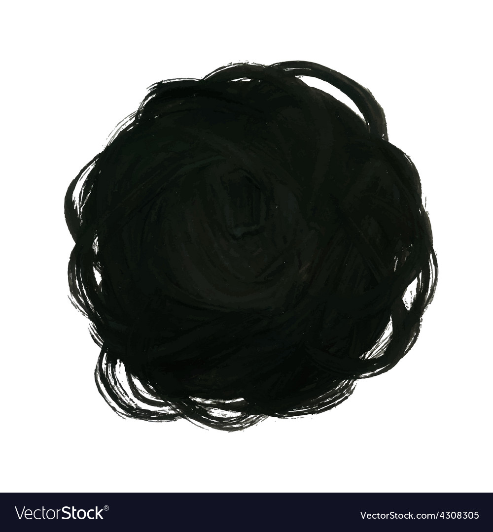 Black Yarn Ball Background Royalty Free Vector Image