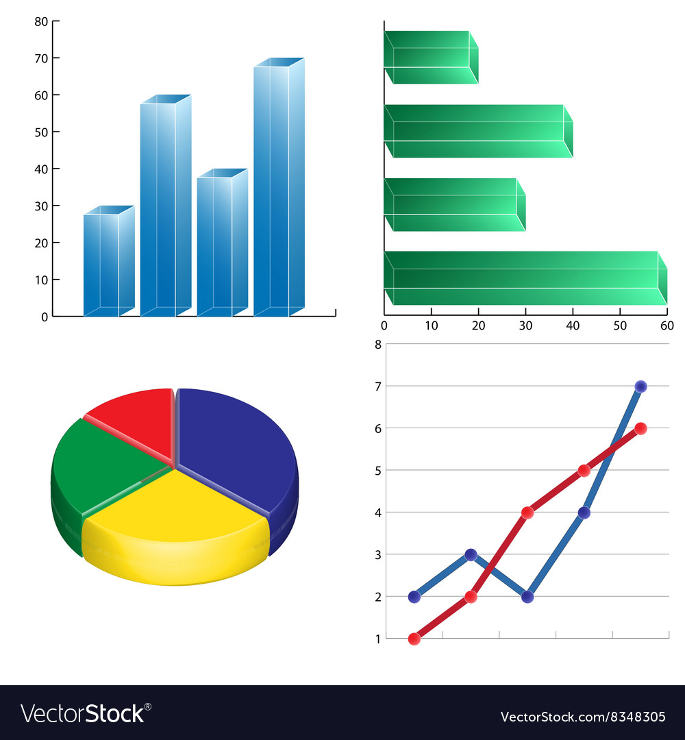 Business charts infographics linear circular and