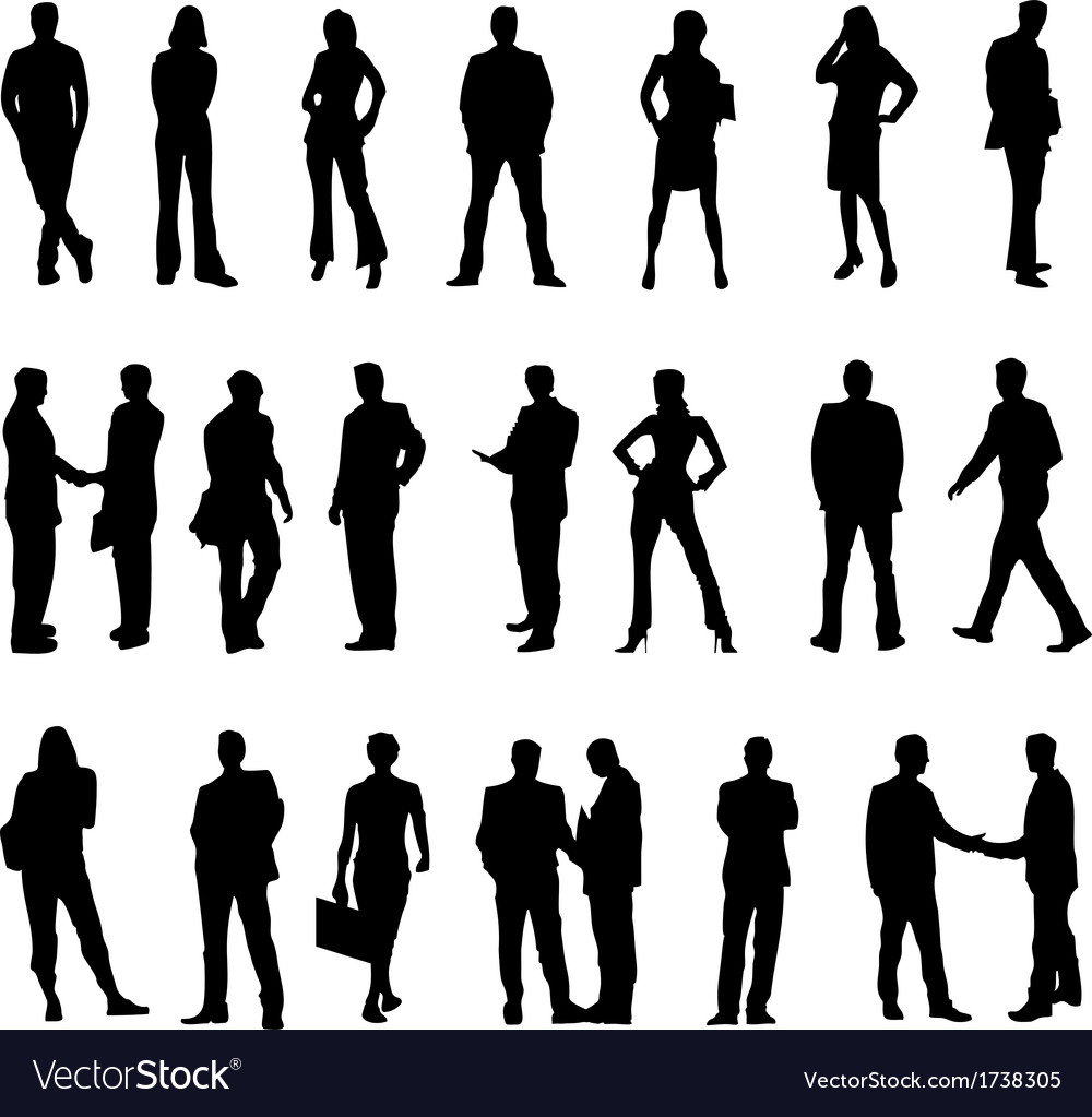 business people silhouette royalty free vector image rh vectorstock com silhouette vector files free silhouette vectoriel gratuit