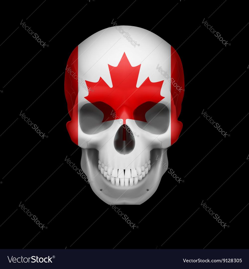 Canadian flag skull vector image
