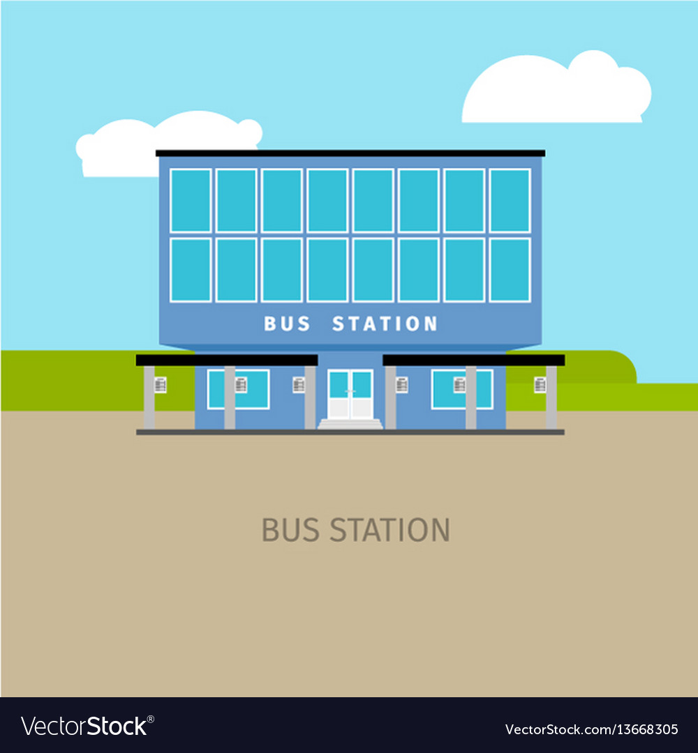 Colored bus station building