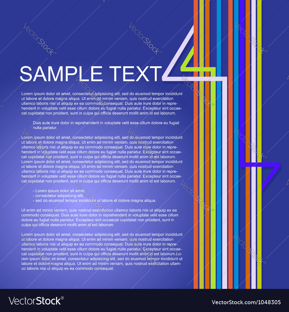 Colorful background for business presentations vector image