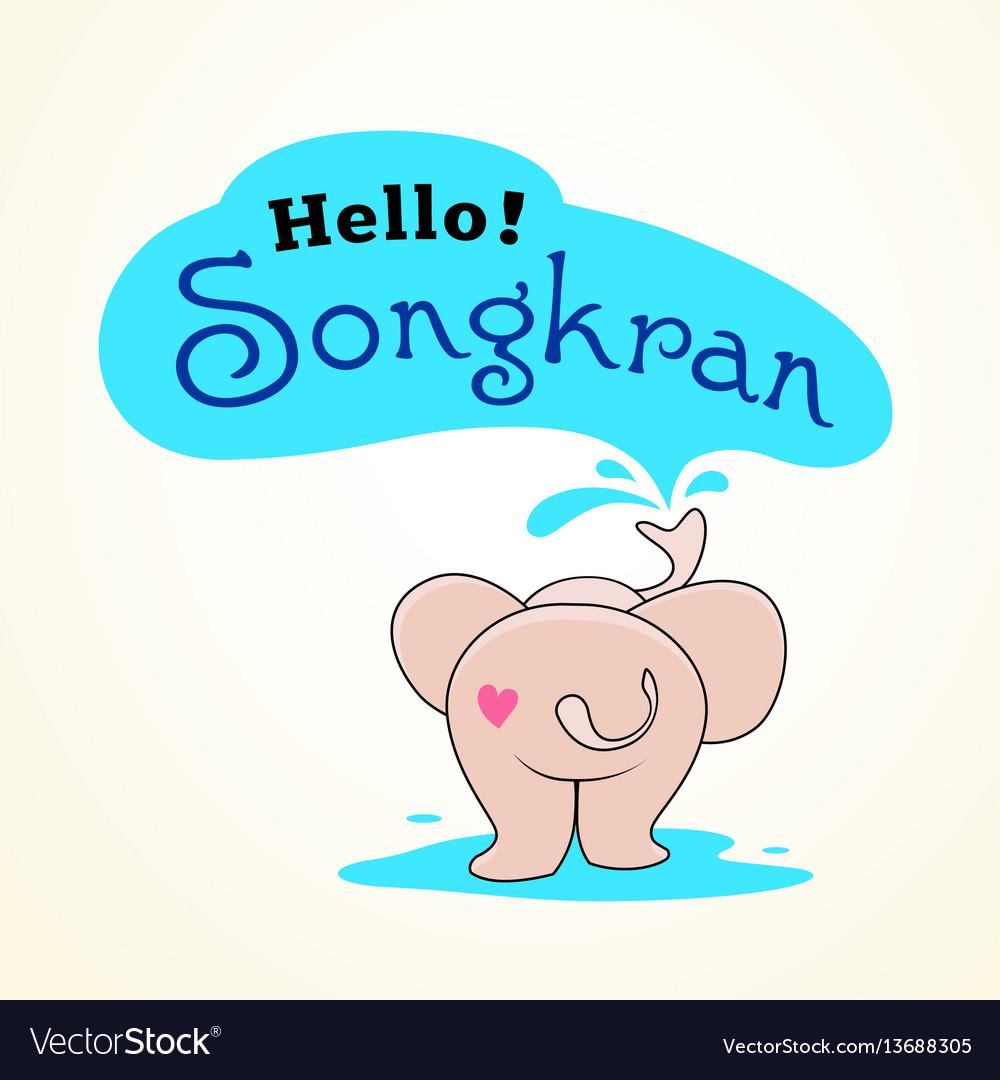 Elephants spray water in songkran festival