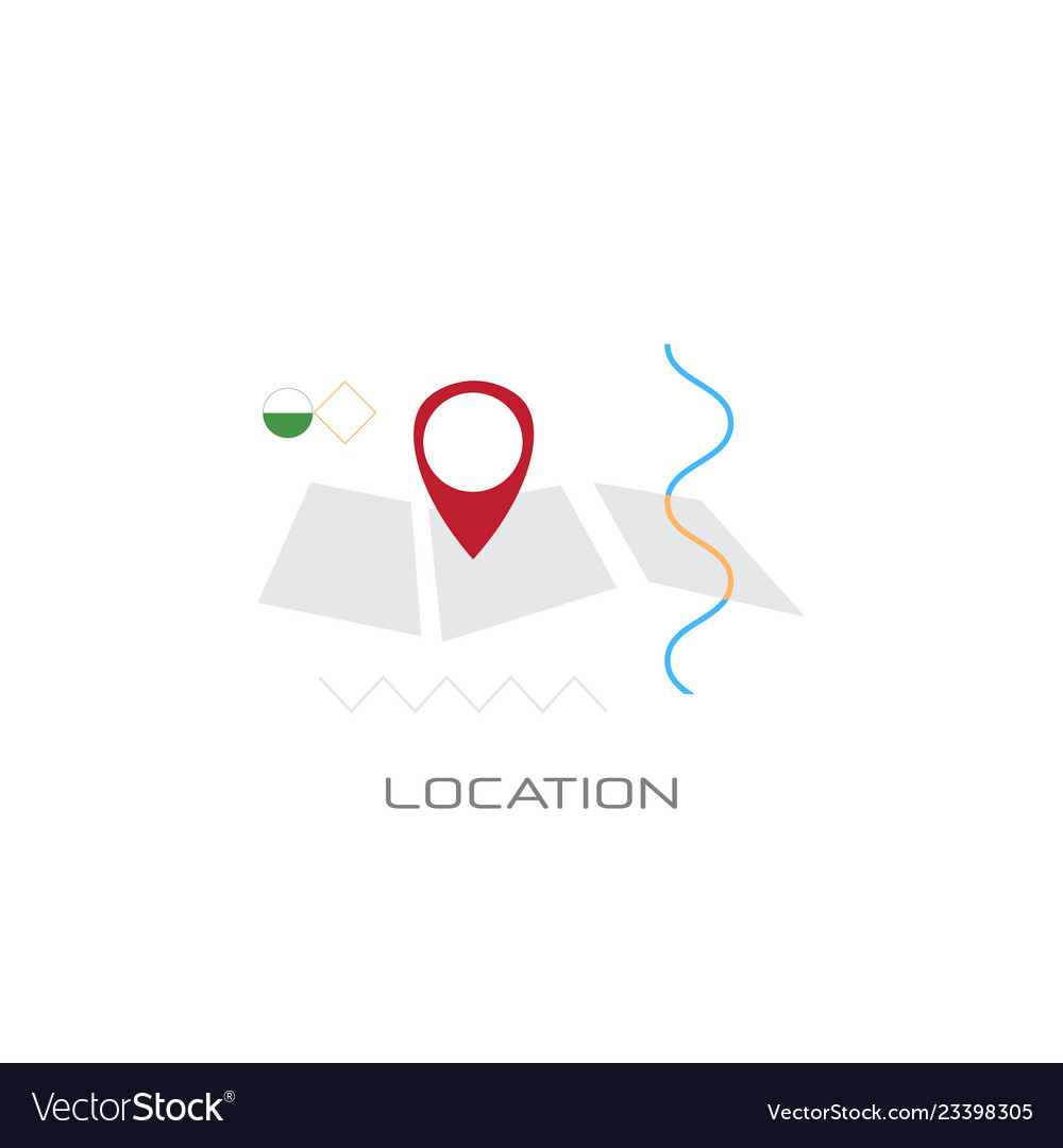 Map navigation app geo tag location position