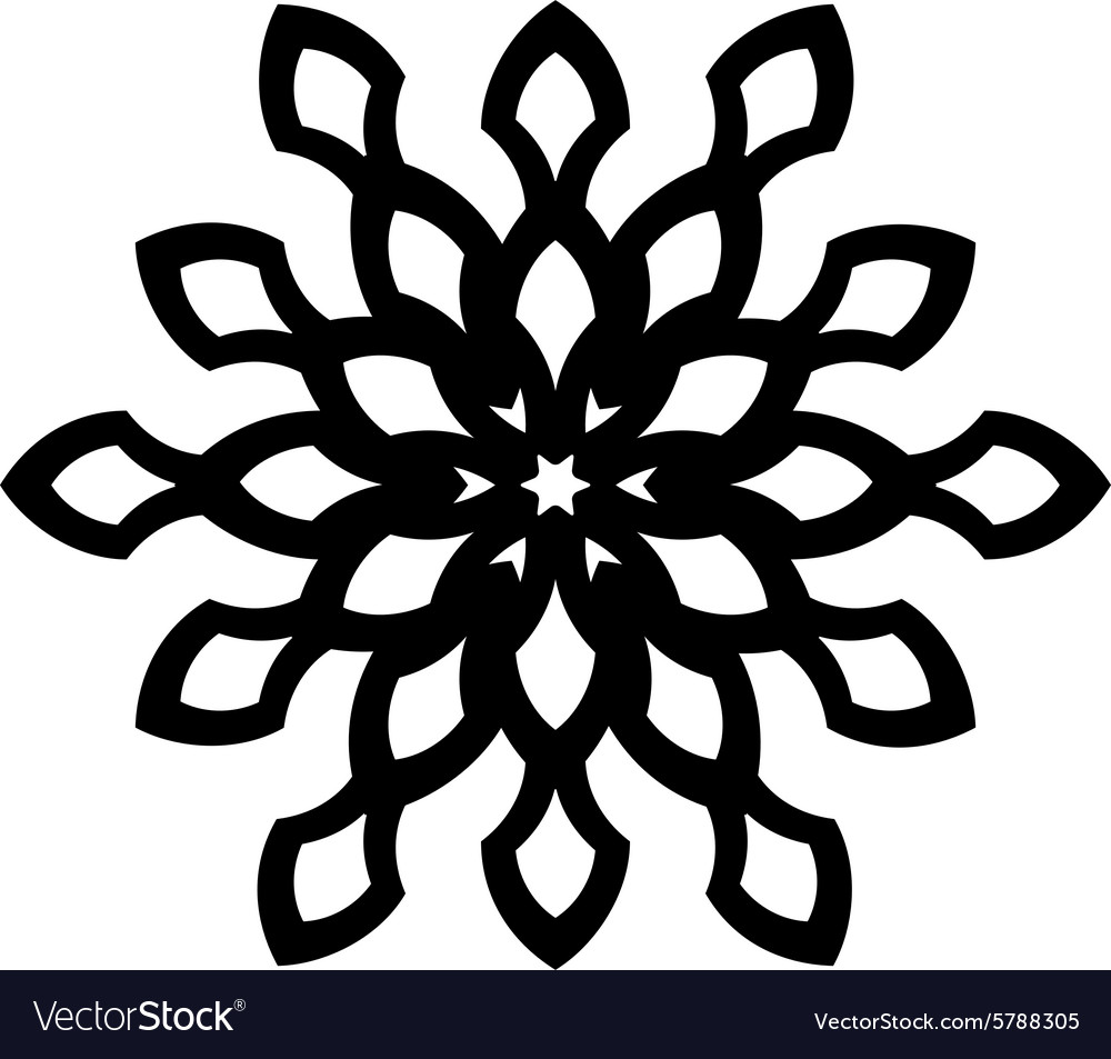 Ornaments Leaf Flower Silhouette