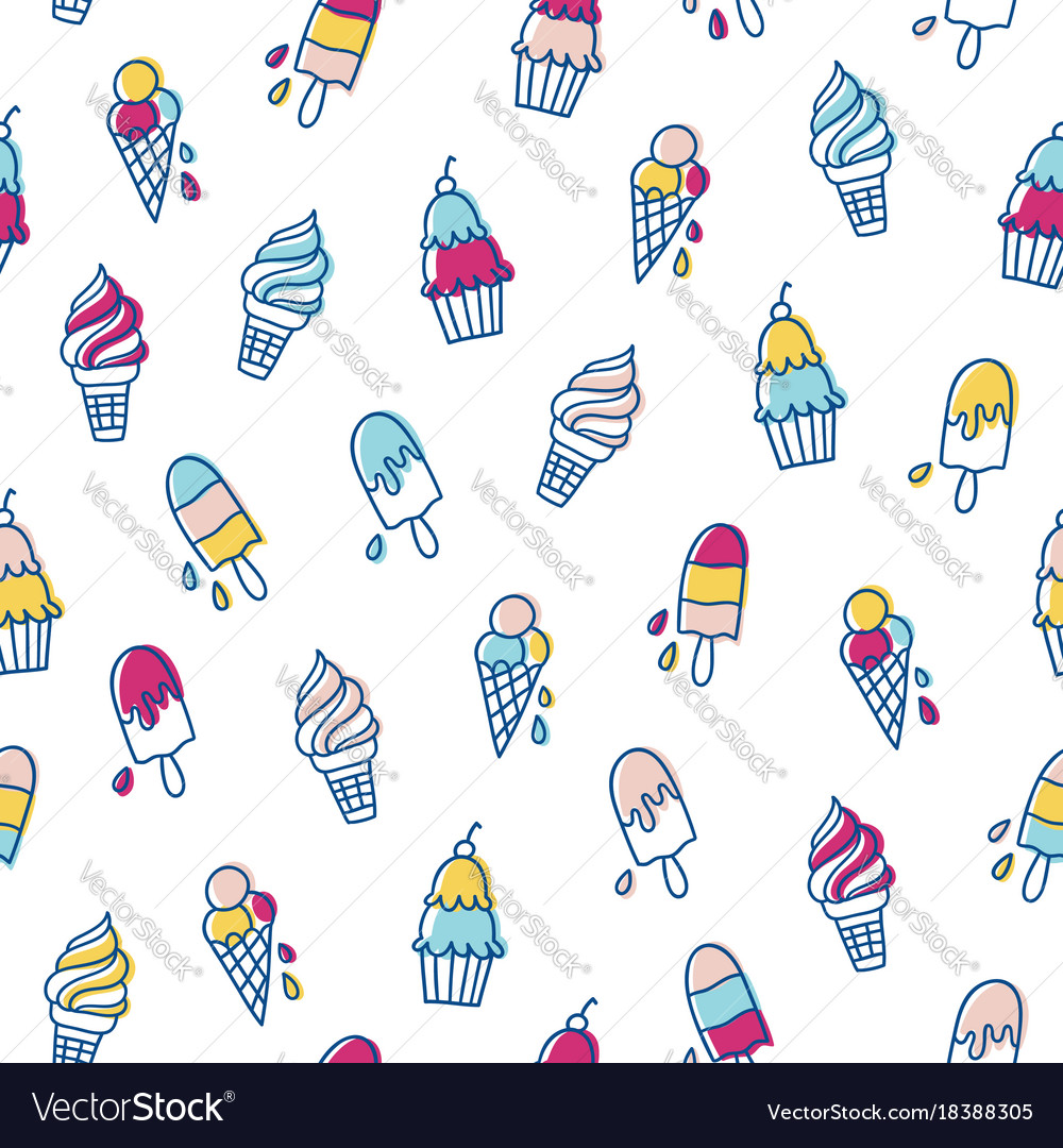 Various ice cream pattern
